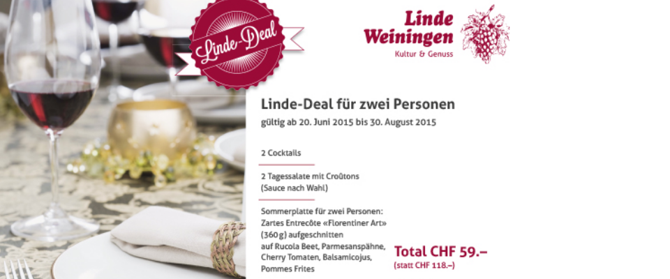 Linde-Deal ab 20. Juni bis 30. August 2015