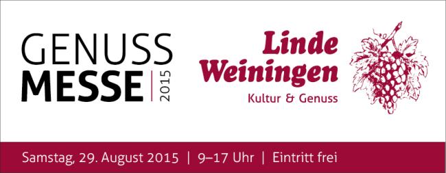 Linde-Genuss-Messe: Samstag, 29. August 2015 9-17h (Eintritt frei)