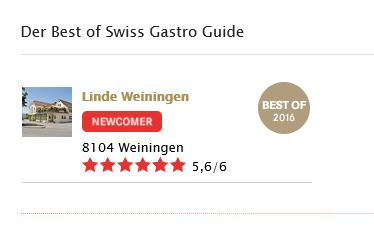 Best of Swiss Gastro Award