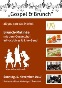 Gospel-Brunch: Sonntag, 5. November / 10.00 - 14.00 Uhr