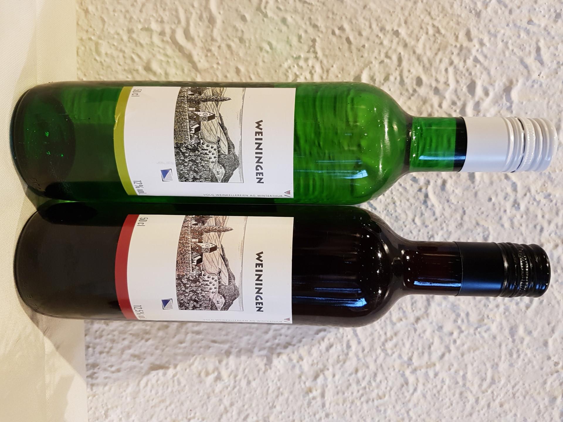 Weininger Weine im Halblitterfläschli