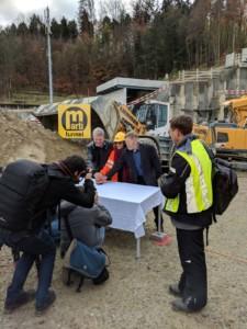 Anschlagfeier Gubrist 3. Röhre - Tunnelpatenschaft