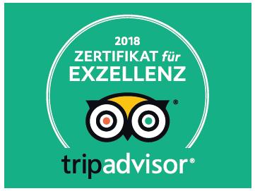 tripadvisor: Zertifikat für Exzellenz