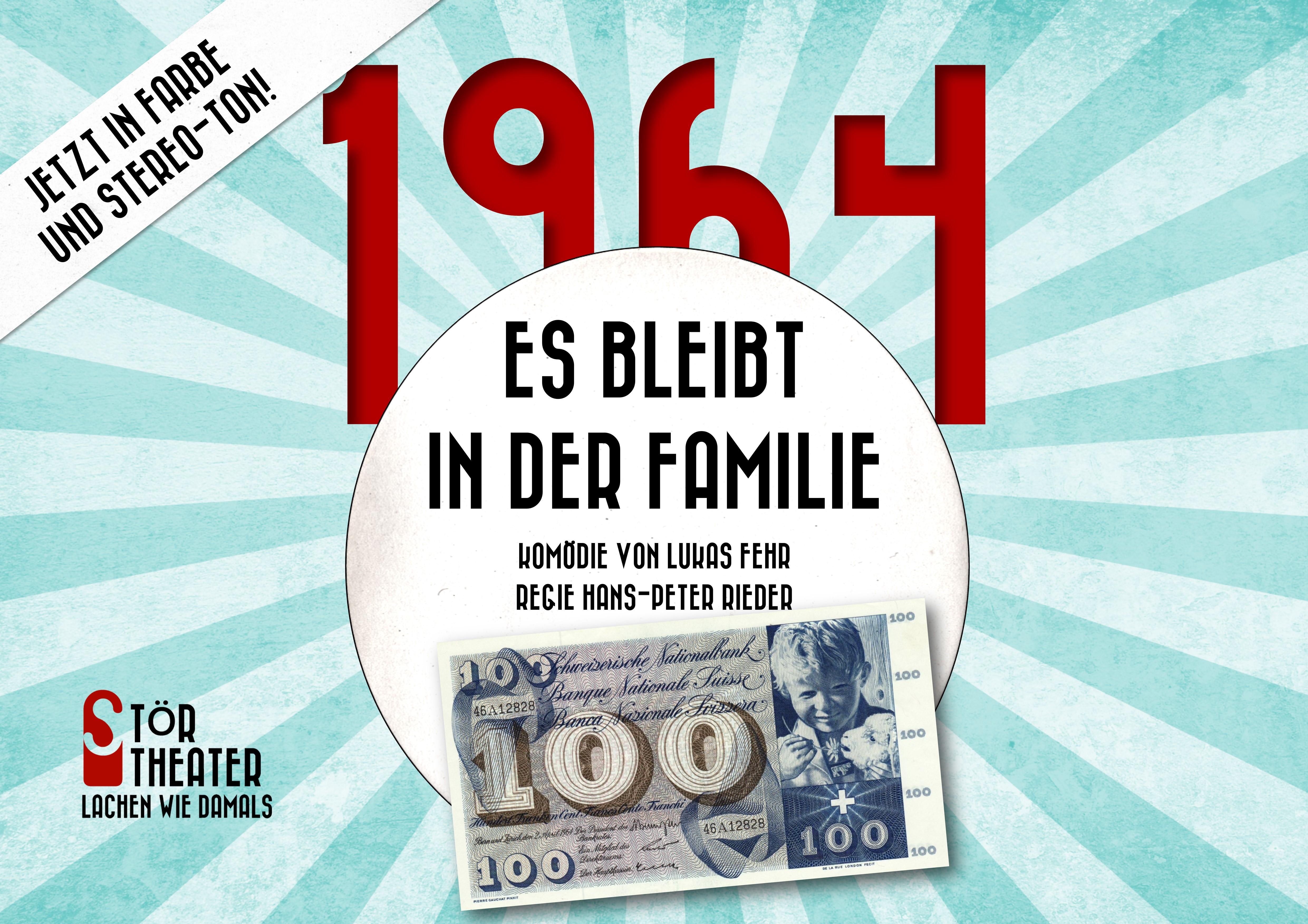 """Dinner-Theater: «1964 – es bleibt in der Familie» """"der Anlass wird verschoben - neues Datum folgt"""""""