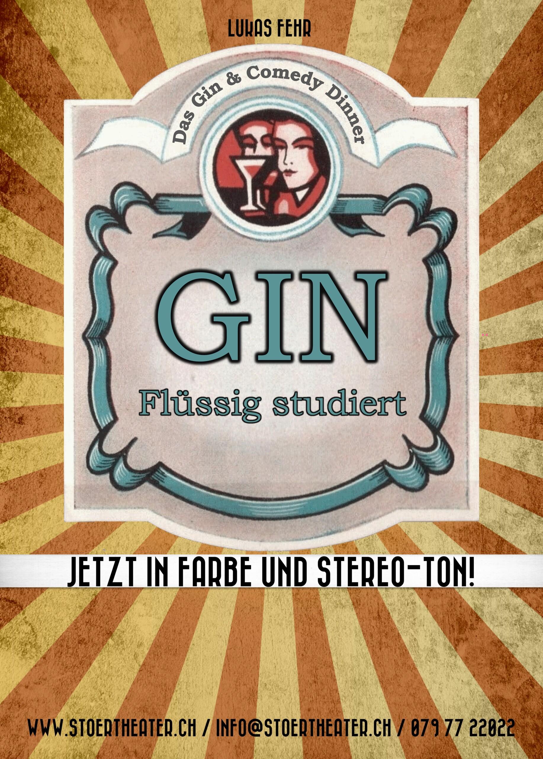 """Gin & Dine unter dem Motto «Gin – flüssig studiert» """"der Anlass wird verschoben - neues Datum folgt"""""""